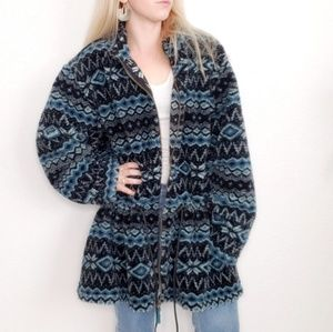 Vintage Denim & Co.Teddy Bear Tribal Print Jacket